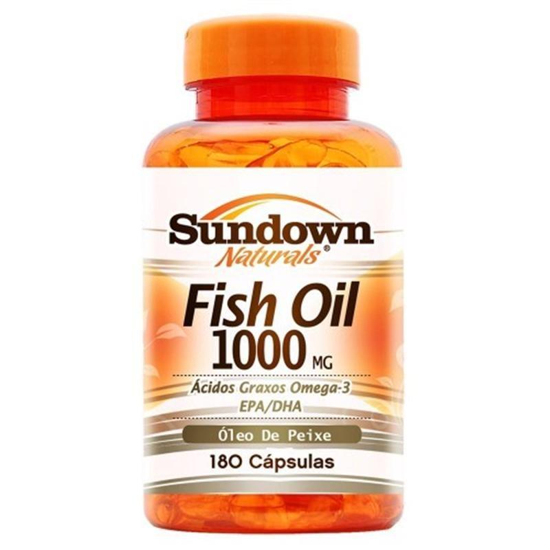 Fish oil 1000mg 180 c psulas sundown pre o for Fish oil beneficios