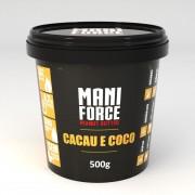 Pasta de Amendoim Integral (500g) Mani Force Cacau e Coco