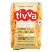 Massa Alimentícia de Milho com Linhaça Dourada Tipo Penne (500g) Tivva