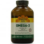 Omega 3 1000mg 300 Cápsulas - Country Life