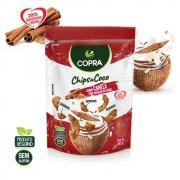 Chips de Coco Sabor Canela com Açúcar de Coco - 60g - Copra