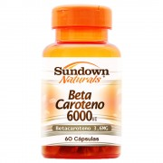 Beta Caroteno 6000UI 60 Cápsulas - Sundown Naturals