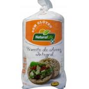 Biscoito de Arroz Integral Grande - Sem Glúten - 80g - Natural Life