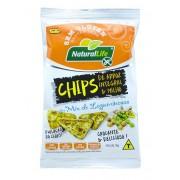 Chips de Arroz Integral e Milho Sem Glúten (70g) Natural Life