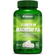 Cloreto de Magnésio P.A - 60 cápsulas, 500mg - Herbamed
