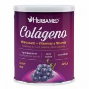Colágeno Hidrolisado + Vitaminas e Minerais - 200g - Herbamed