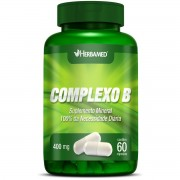 Vitaminas do Complexo B - 60 cápsulas, 400mg - Herbamed