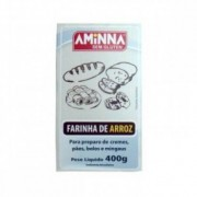 Farinha de Arroz sem Glúten - 400g - Aminna