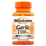 Garlic 1500mg 100 Cápsulas - Sundown Naturals