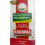 Mix sem Glúten para Pão Integral - 350g - Aminna