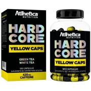 Hardcore Yellow caps. - 120 cápsulas - Atlhetica