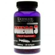 Ômega 3 Óleo de Peixe (90 Softgels) Ultimate Nutrition