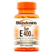 Vitamina E - Sun E 400 UI (100 Cápsulas) - Sundown