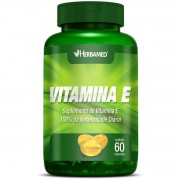 Vitamina E - 60 cápsulas, 250mg - Herbamed