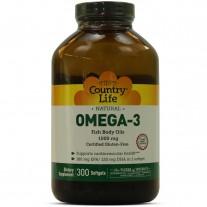 Omega 3 1000mg 300 Cápsulas - Country Life