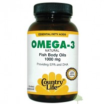 Omega 3 1000mg  200 Cápsulas - Country Life