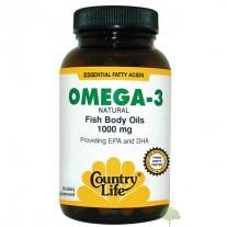 Omega 3 1000mg  200 Cápsulas - Country Life