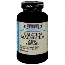 Calcium Magnesium Zinc Chelated (100 Tabs) Performance Nutrition