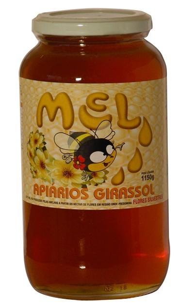 Mel - Apiários Girassol - Pote Vidro - 1150g