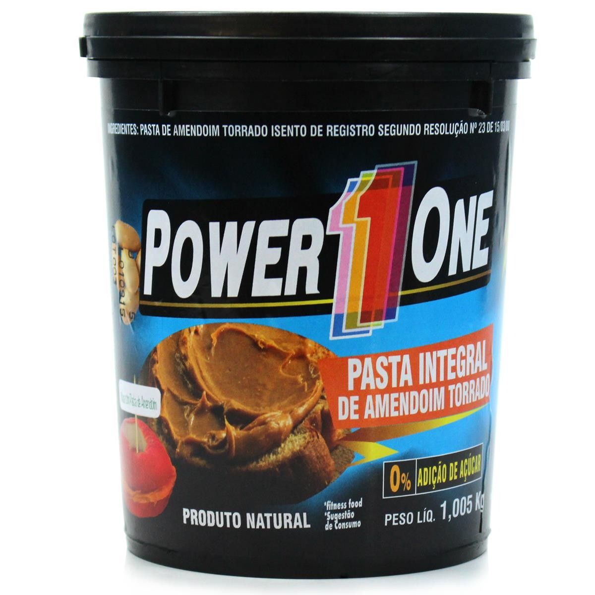 Pasta de Amendoim Integral (1,005kg) Power One