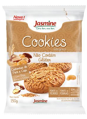 Cookies Integrais Sabor Castanha do Pará e Caju (150g) Jasmine
