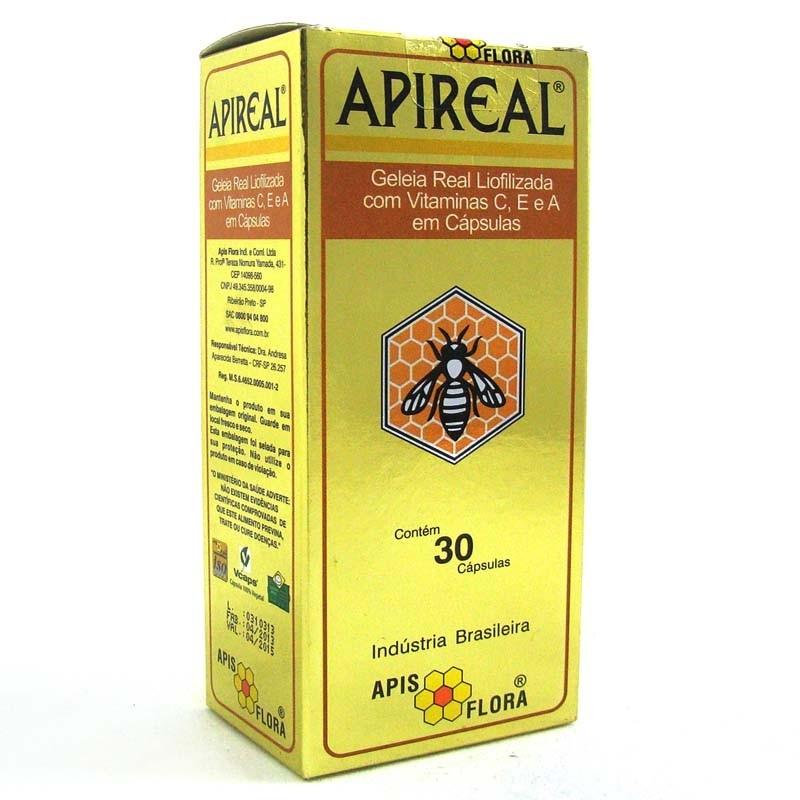 Geléia Real Liofilizada - 30 Cápsulas - Apis Flora