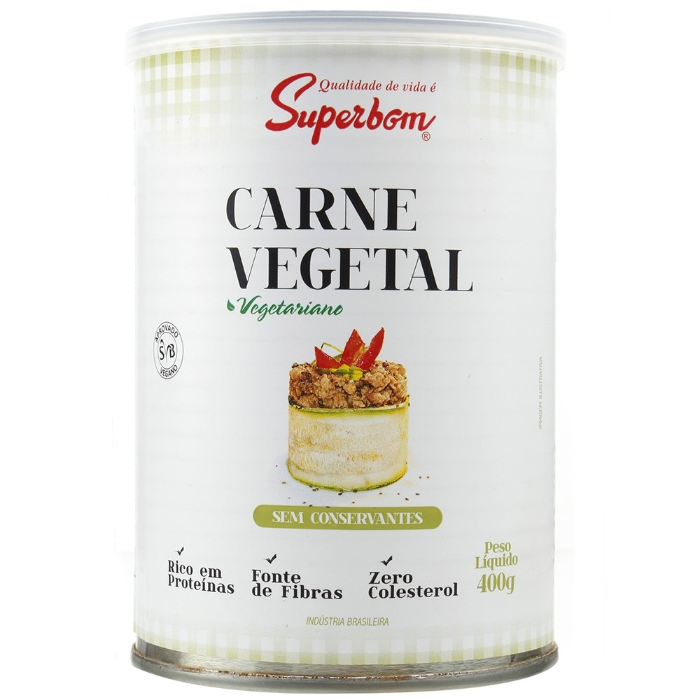 Carne Vegetal - 400g - Superbom