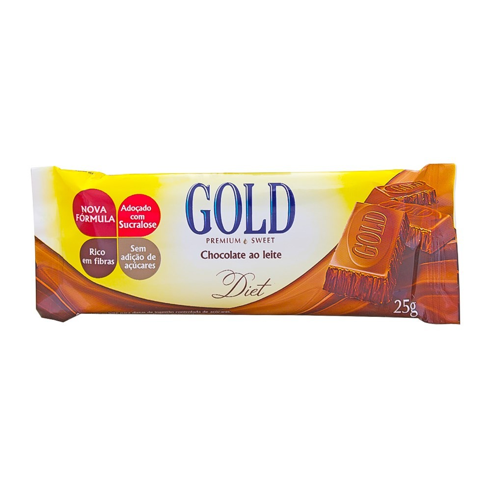 Chocolate ao Leite Diet (25g) - Gold Premium Sweet