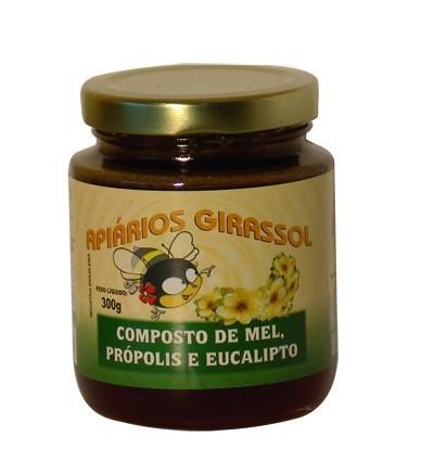 Composto de Mel Própolis e Eucalipto (300g) Apiários Girassol