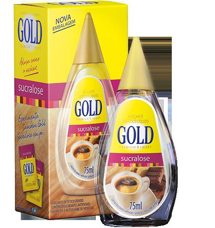 Adoçante Dietético Líquido Sucralose - 75ml - Gold Premium Sweet