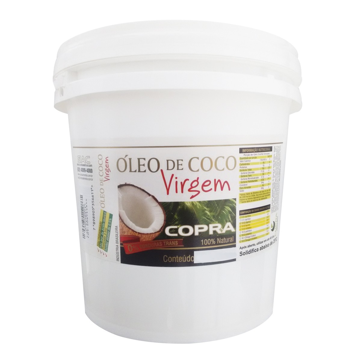 Óleo de Coco Virgem - 3,2L - Copra