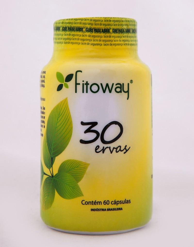 30 Ervas (60 Cáps) Fitoway