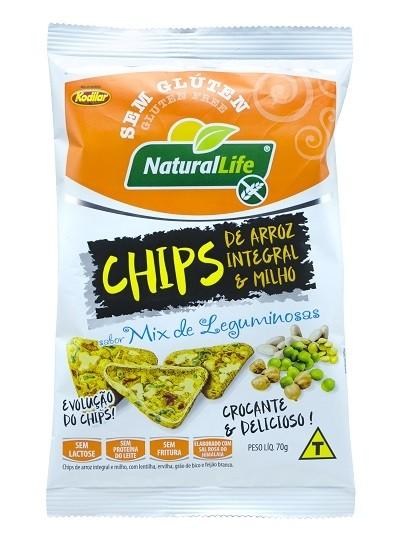 Chips de Arroz Integral e Milho - Sem Glúten - 70g - Natural Life