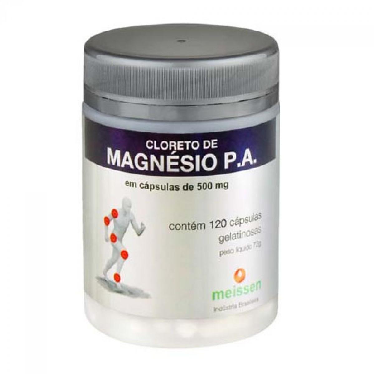 Cloreto de Magnésio -120 Cáps - Meissen