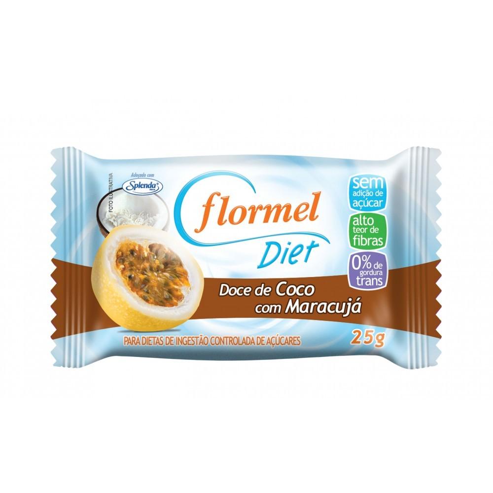 Doce de Coco com Maracujá - Diet (25g) - Flormel