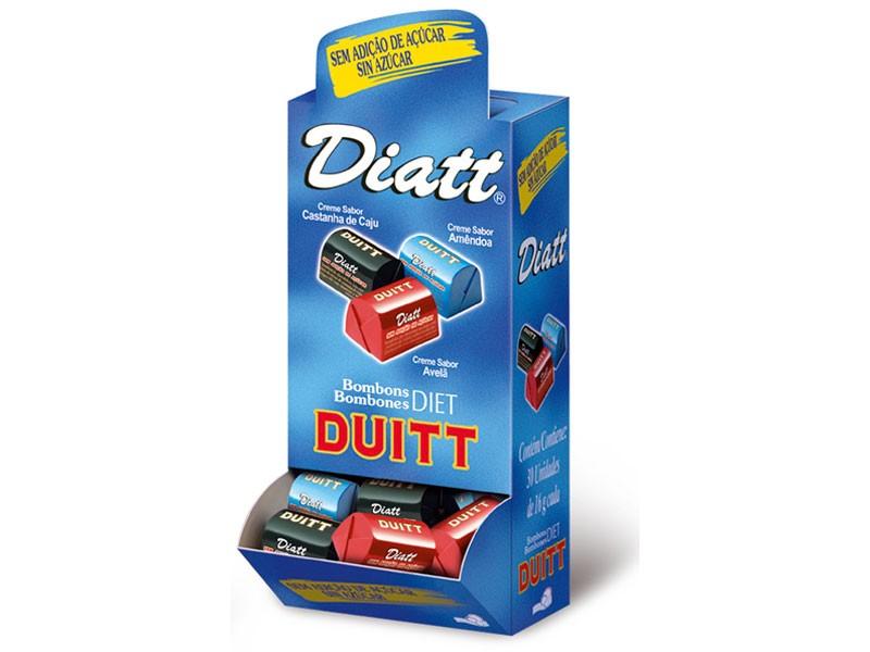 Bombons Diet Duitt Sortidos (Cx. 30 Unid.) - Diatt
