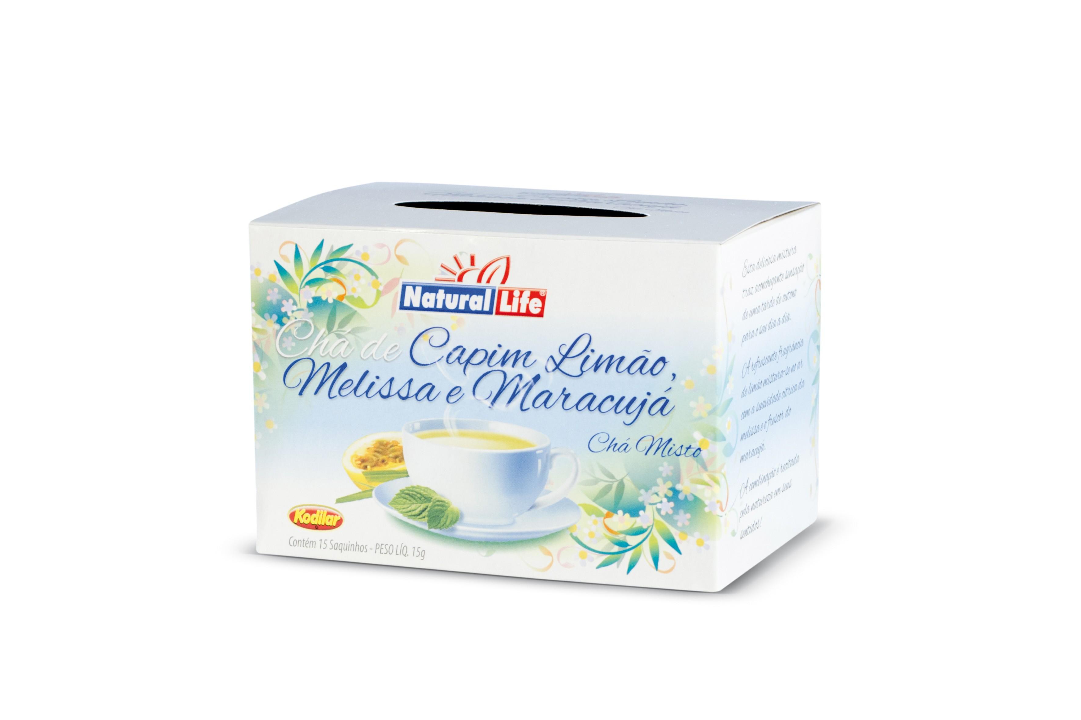 Chá Misto Capim Limão, Melissa e Maracujá (15 Sachês) Natural Life
