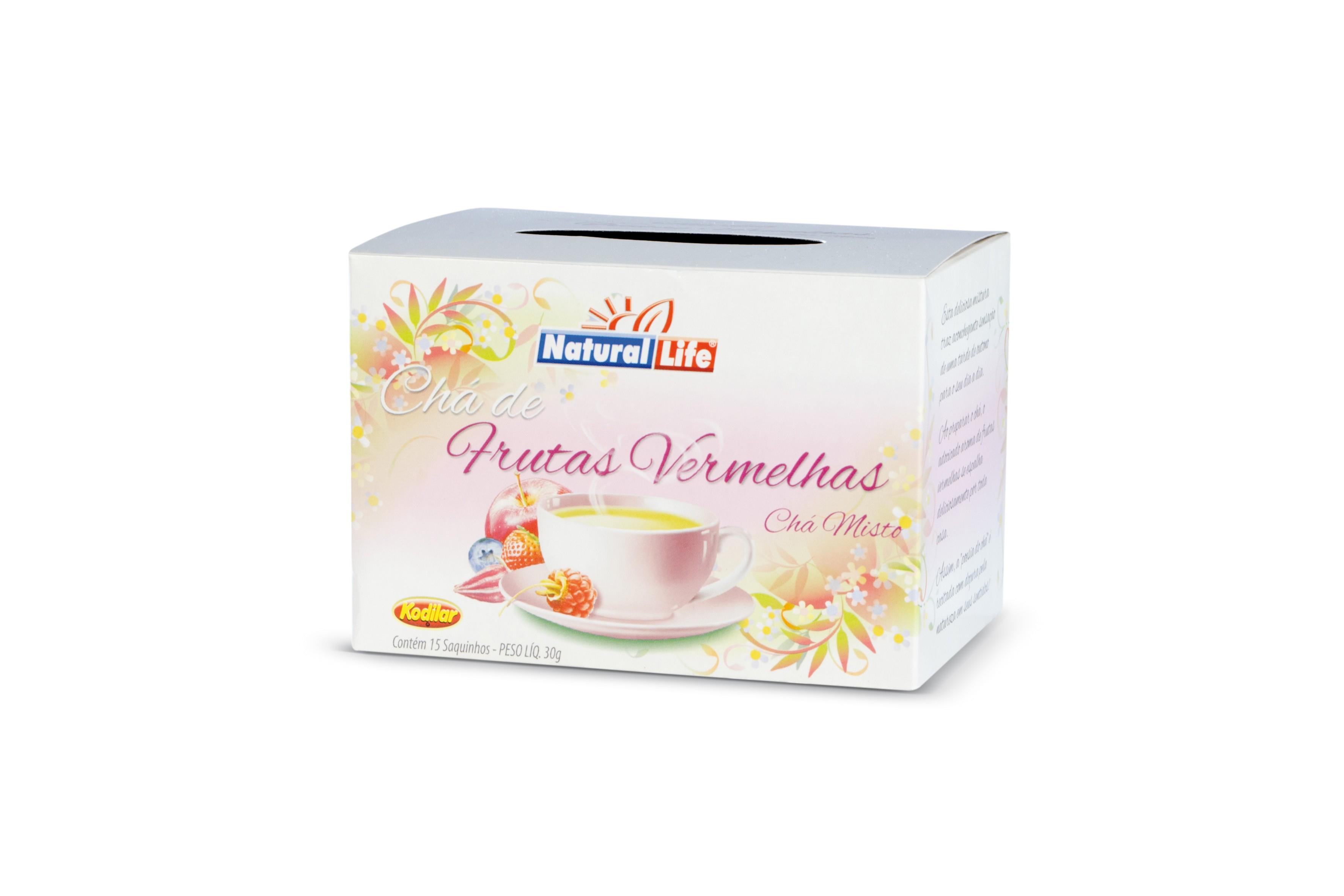 Chá Misto Frutas Vermelhas (15 Sachês) Natural Life