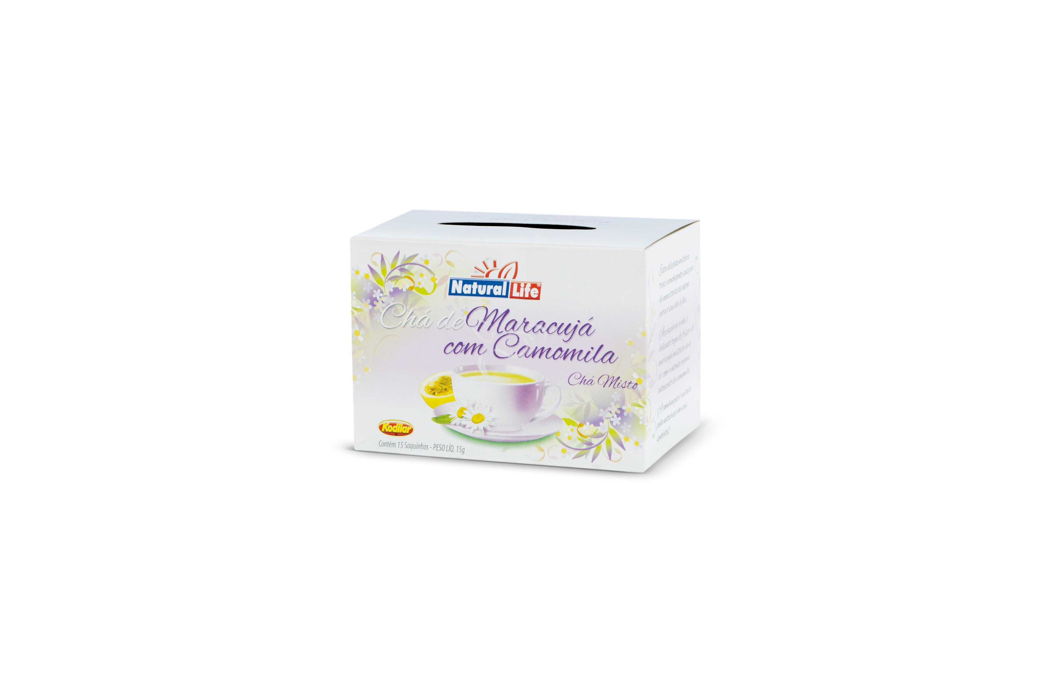 Chá Misto Maracujá com Camomila (15 Sachês) Natural Life