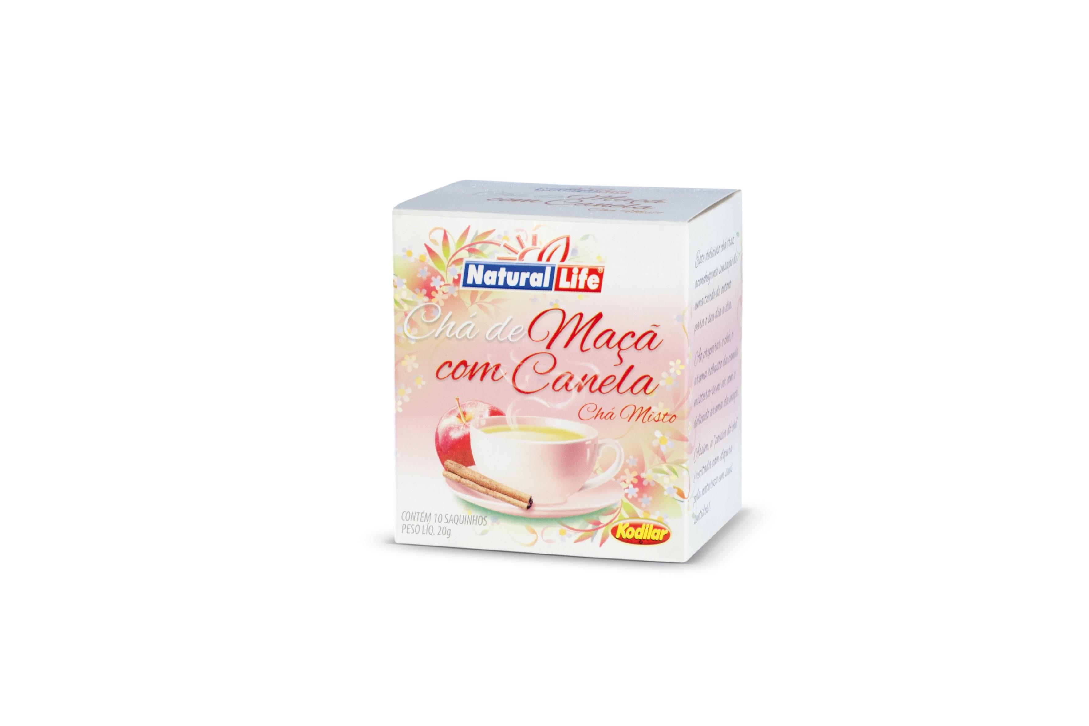 Chá de Maça c/ Canela (10 Sachês) Natural Life