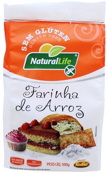 Farinha de Arroz Sem Glúten - 500g - Natural Life
