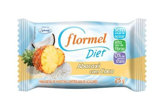 Doce Abacaxi com Coco Diet (25g) - Flormel