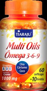 Multi Oils Ômega 3-6-9 (60+10 Softcaps) Tiaraju