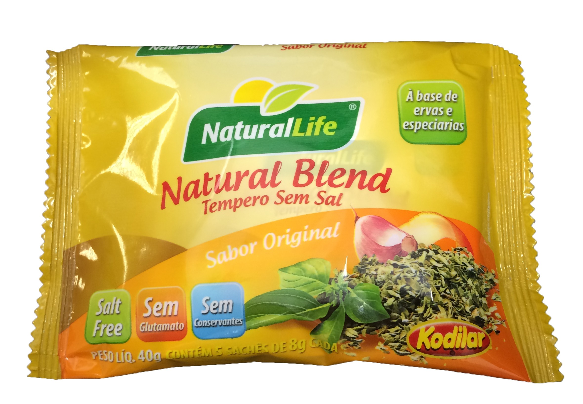 Natural Blend Tempero Sem Sal - Sachê - 40g - NaturalLife