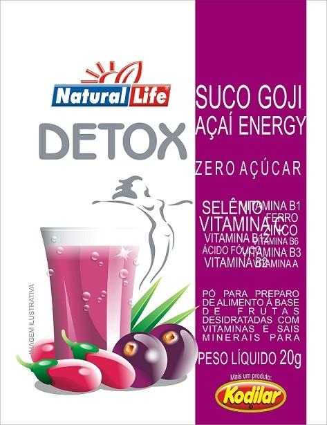 Suco Goji Açaí Energy Detox - 20g - Natural Life