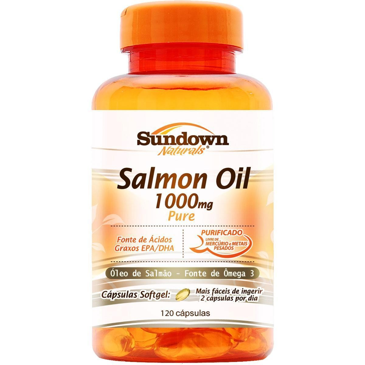 Salmon Oil 1000mg (120 Cápsulas) - Sundown