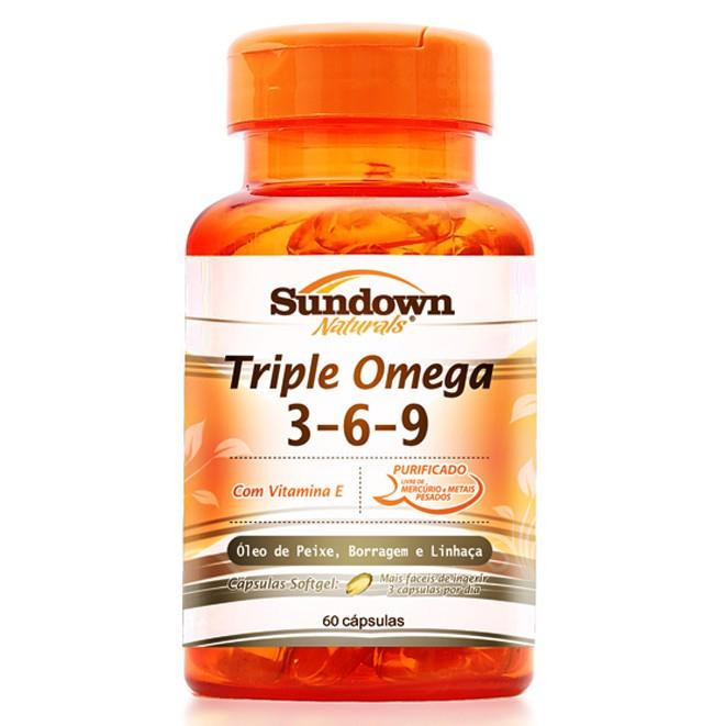 Triple Ômega 3-6-9 - 60 Cápsulas - Sundown